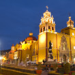 Stock Photo: Iconic yellow church in guanajuato, mexico