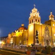 Foto de Stock  : Iconic yellow church in guanajuato, mexico