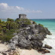 Mayan ruins at tulum, mexico — Stock Photo