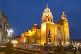 The iconic yellow church in guanajuato, mexico — Stok fotoğraf