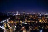 O skyline da cidade do méxico à noite — Foto Stock