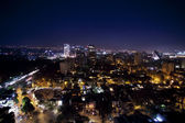 The mexico city skyline at night — ストック写真