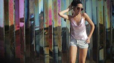 A sexy gogo dancer — Stock Video #15808907