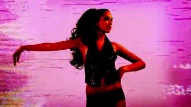 A sexy gogo dancer — Stock Video
