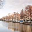 A shot of canal and street scene in amsterdam — Stock Video
