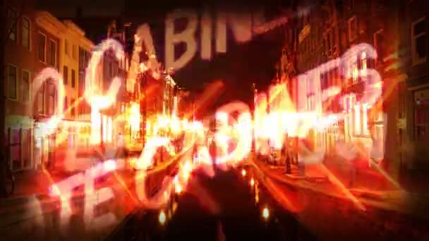 Séquence fabriqué à partir d'images prises dans le quartier rouge d'amsterdam — Vidéo