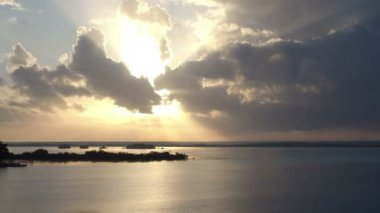 The beautiful lake bacalar — Vídeo Stock