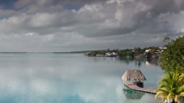 The beautiful lake bacalar — Wideo stockowe
