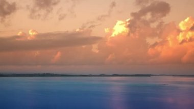 The beautiful lake bacalar — Stok video