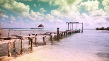 The beautiful lake bacalar — Vídeo de stock