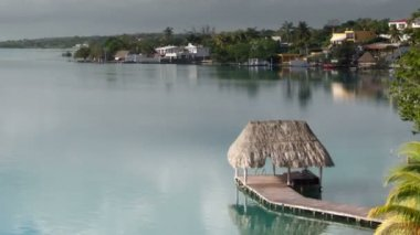 The beautiful lake bacalar — Stockvideo