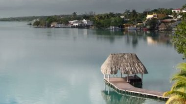 The beautiful lake bacalar — ストックビデオ
