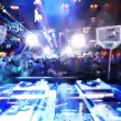 Vídeo de stock: Shot of dj playing from behind looking out to crowd in privilege club, ibiza, spain