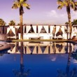 A luxury swimming pool in a boutique hotel — Stock Video #16039133