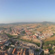 View from a hot air balloon european balloon festival, 2011, in igualada, spain - Stock Photo