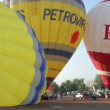 Hot air balloons take part in the european balloon festival, - Stock Photo