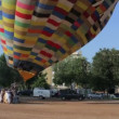 Hot air balloons take part in the european balloon festival, — Stock Video