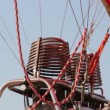 Close up of the gas engines on a hot air balloon - Stock Photo
