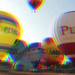 Hot air balloons take part in the european balloon festival - Stock Photo