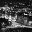 Panoramic view of the city of barcelona at night - Lizenzfreies Foto