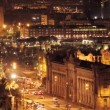 Panoramic view of the city of barcelona at night - Stockfoto