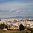 Panoramic timelapse view of the city of barcelona - Stock Photo