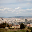 Panoramic view of the city of barcelona - Stock Photo