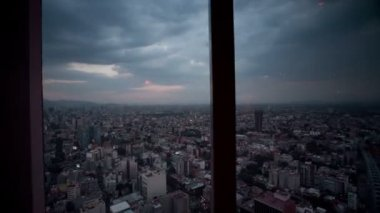Timelapse of the view from the rotating restaurant — Stock Video