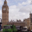 Timelapse of big ben, in london, with traffic, shot with a tilt shift lens - Stock Photo