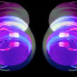 Cool looking audio headphones, spinning around stop-motion stylee — Stock Video #16303727