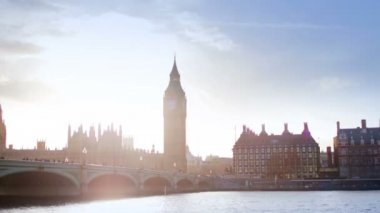 Timelapse of big ben and houses of parliament — Stock Video