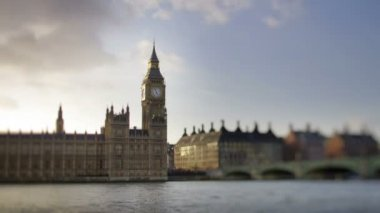 Big ben and the houses of parliament shot — Stock Video