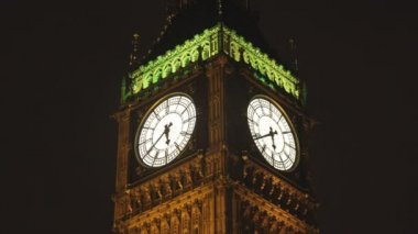 Timlapse of big ben and houses of parliament in london shot — Stock Video