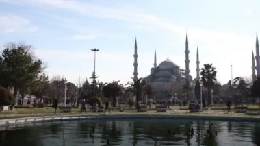 Timelapse of the famous blue mosque in istanbul — ストックビデオ