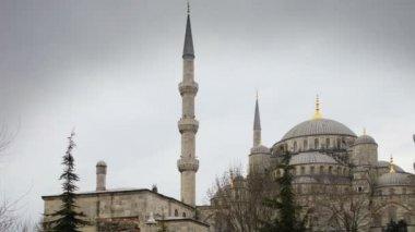Timelape ünlü sultanahmet camii i̇stanbul, türkiye — Stok video