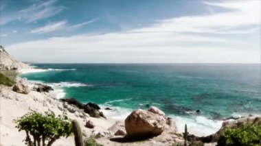 Beautiful timelapse shot in los cabo, baja california sur mexico — 图库视频影像