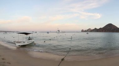 Medano beach in cabo san lucas, baja california sur, mexico — Stockvideo