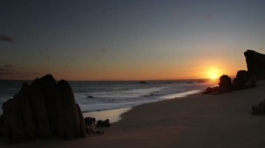 Beautiful timelapse shot at sunset in los cabo — Video Stock