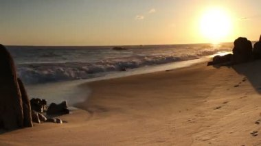 Beautiful timelapse shot at sunset in los cabo — Vídeo Stock