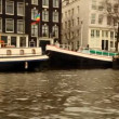 A shot of canal and street scene in amsterdam - Lizenzfreies Foto