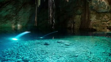 Timelapse of a cenote in mexico. — Stock Video