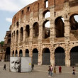 Timelapse of the famous colosseum in rome, italy - Zdjęcie stockowe
