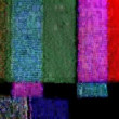 Stock Video: Static and electronic noise captured from old televison