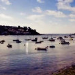 Timelapse of the picturesque harbour village of padstow on the cornwall coast, england  — Stock Video
