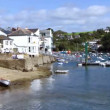 Timelapse of the picturesque harbour village of fowey on the cornwall coast, england  — Stock Video