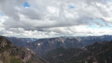 Timelapse of the incredible copper canyon (Barrancas del Cobre) — Stock video