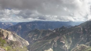 Timelapse of the incredible copper canyon (Barrancas del Cobre) — Stok video