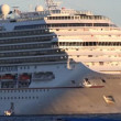 A large cruise ship in the sea - Foto de Stock