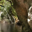 The small oasis of darwin falls in the middle of death valley, california — Stock Video