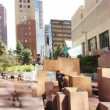 Young practicing parkour in downtown denver, colorado - Foto de Stock